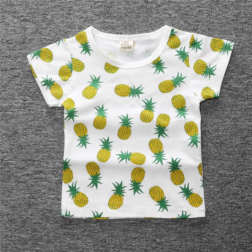 Kinderen Tops Kids Kleding Meisjes Katoen Zomer T-shirts Voor Baby Jongens T-shirts Korte Mouwen Strand 2020 90 ~ 120