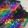 1 Meter Accessories Mermaid Reversible Sparkly Color Changeable Sheet Sequin Fabric For Clothes Part Cushion Decor