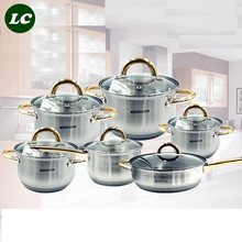 utensils casseroles cookware set inox senior quality cooking pot set 12pcs frypan food pots set kettle kitchen utensil