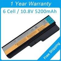 5200mah laptop battery for lenovo G450 3000 G430 4153 G530 DC T3400 G530A G450 2949 L06L6Y02 L08L6C02 FRU 42T4585 42T4727