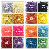 19 COLORS 3mm width Gift Basket Shred, Crinkle Paper Grass Filler 500g