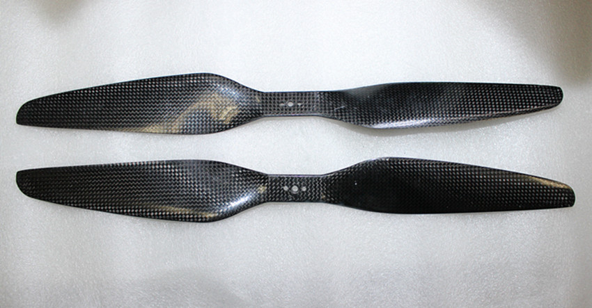 1 Pair 17x5.5 3K Carbon Fiber Propeller CW CCW 1755 Prop For T-Motor Multicopter Quadcopter F08918