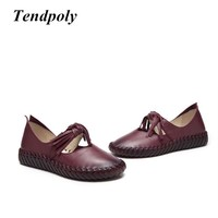 2018 Latest Fashion Retro Women S Shoes Spring Autumn Real Leather Pregnant Women Soft Hot Paragraph