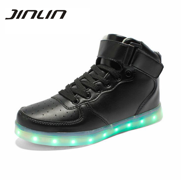 Led shoes unisex 8 Colors tenis led luminous glowing shoes men USB rechargeable light up led shoes for adults 07