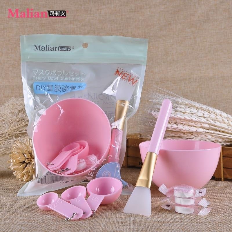 8PC/Set DIY Face Mask Makeup Tools Beauty Brush Spoon Stick Bowl  Compression MaskProfissional Makeup Brush Cosmetics