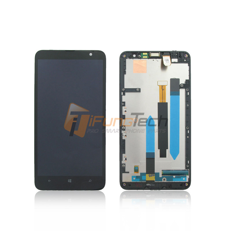 ФОТО Free Shipping Wholesale LCD Display Assembly for Nokia Lumia 1320 black with Frame