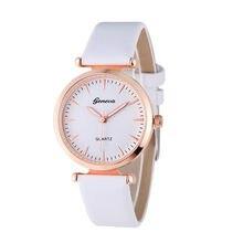 Mulheres relógios de Couro Genebra Marca de relógios de Luxo Feminino Relógios de Pulso de Quartzo Moda de Qualidade luxo marca relogio feminino Dropship # C