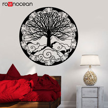 Vinyl Wall Decal Tree Of Life Family Symbol Ornament Fantasy Stickers Circle Kabbalah Art YD41