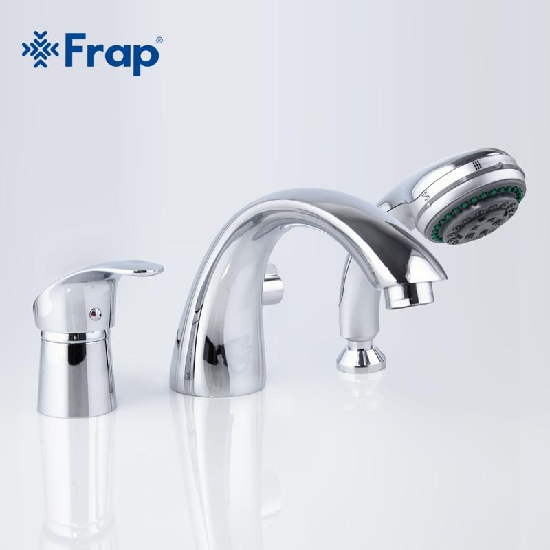 Frap nowy zestaw do wanny i prysznica zestaw kranów pełna separacja z trzema otworami do kranu łazienkowego wanna ciepła i zimna woda mikser z rączka prysznica F1121