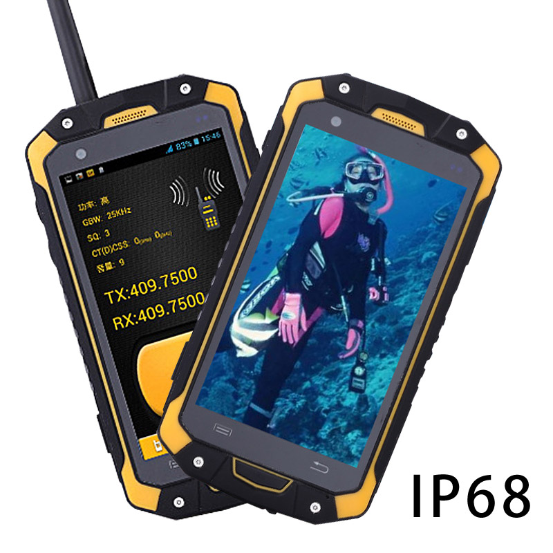 IP68 POC водонепроницаемый портативной рации handphone интерком трубка Портативный радиоприемник смартфон мобильный рации телефон ptt UHF