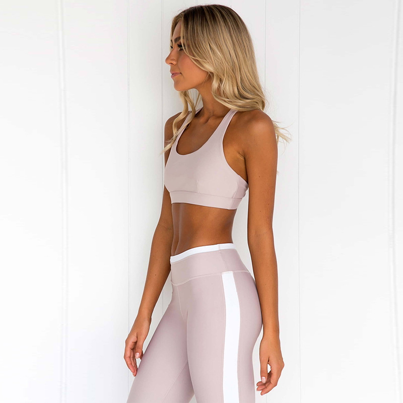 Sexy Yoga Set Bandage Gym leggings+Bra Sports Clothes