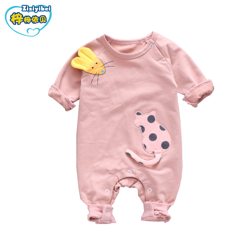 ZZYB 2017 newborn baby boy winter clothes100% Cotton Long Sleeve Baby Rompers Soft Infant Baby girl Clothing Set Jumpsuit L527 baby clothing winter autumn unisex newborn baby clothes100% cotton cartoon rompers long sleeve baby product baby clothing infant