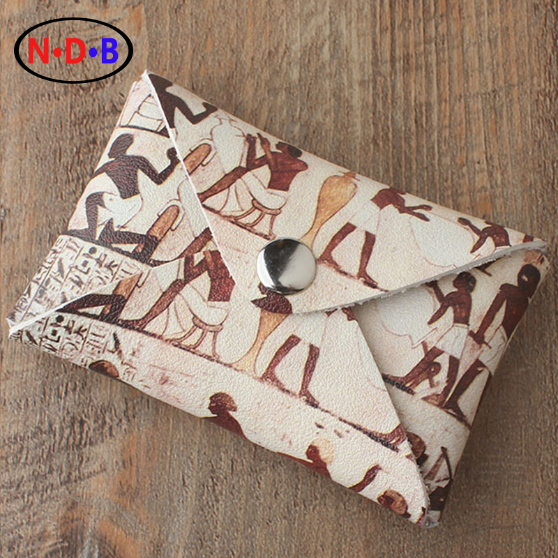 (Coin Purses)2016 classic trend of ancient Egyptian human pattern zero wallet card package and Hand Bag Coin Bag mail LQB1016