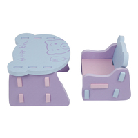 Children EVA Foam Chair And Desk Kids Safe Lightweight Table Anticollision Comfortable Chair Bear Pattern