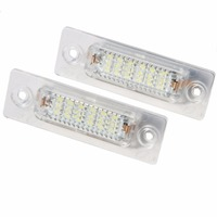 18smd LED License Plate Light Lamp For Volkswagen VW Caddy Golf Jetta Touran Passat And Skoda