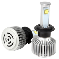 Version Of X7 LED Headlight Car Styling All In One 40W Each Bulb H7