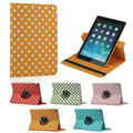 Fashion 360 Rotation Polka Dot PU Leather Stand case For Apple ipad  air2 Smart cover For  ipad6 ipad air 2 flip cases
