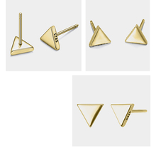 925 Sterling Silver Triangle Shaped Earrings