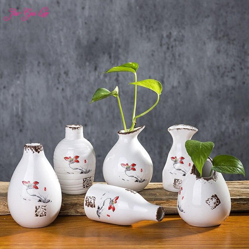 Цзя-GUI Luo Ваза с эмалью Винтаж дома украшением рабочего стола украшения сухоцветы и цветочным орнаментом контейнеры