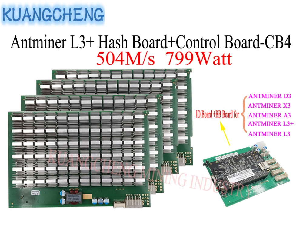 Litecoin Miner ANTMINER L3+ Hash Board And Control Board 504M/S 799watt Asic Miner SCRYPT Algorithm