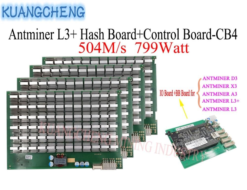 Litecoin Miner ANTMINER L3+ Hash Board And Control Board 504M/S 799watt Asic Miner SCRYPT Algorithm