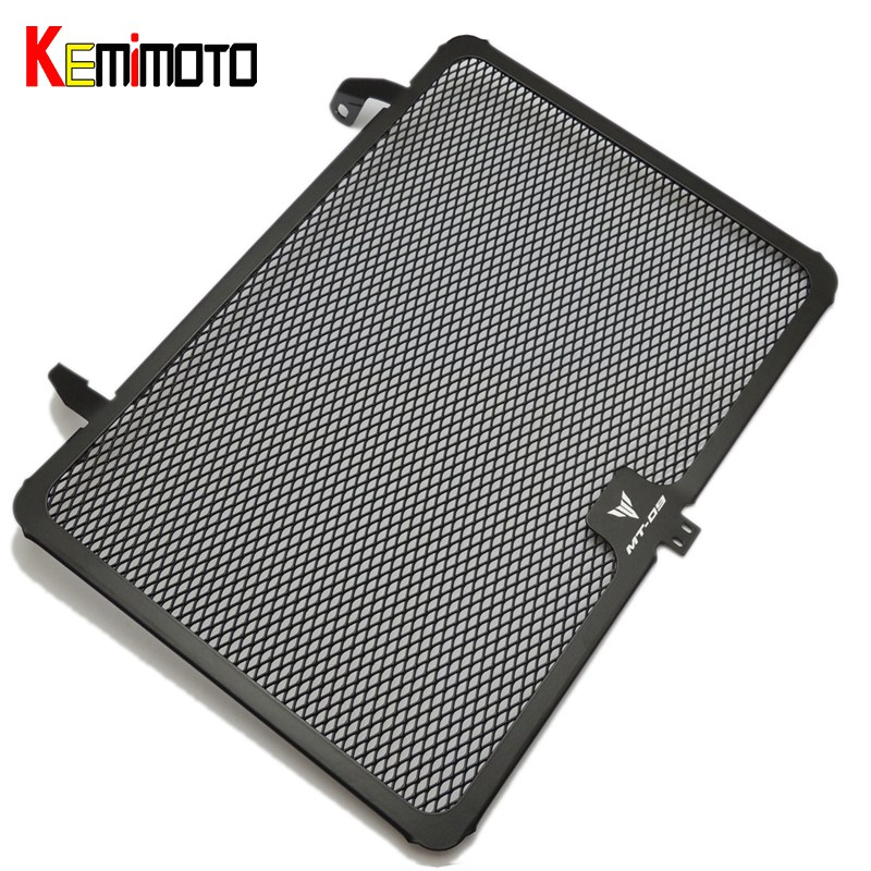 KEMiMOTO MT 09 MT09 Aluminum Black Radiator Grille Cover Guard Protector For Yamaha MT-09 FZ09 FZ-09 FZ 09 2014 2015 2016 2017 epman 42mm 2 row aluminum radiator for nissan skyline r33 r34 gtr gtst rb25det mt ep r106rad