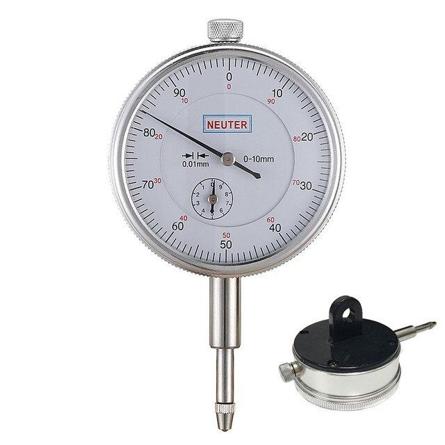 Fjs  01mm Dial Indicator With Lug Back Precision Measurement Gauge Micrometer