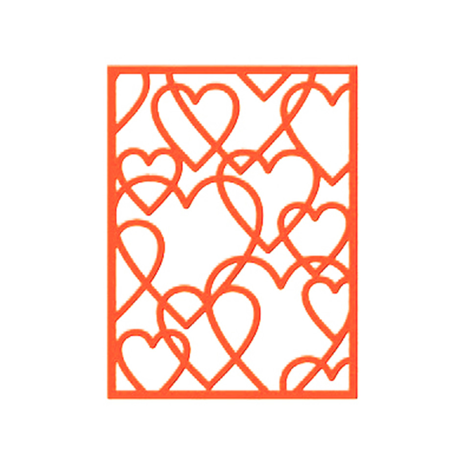 Eastshape Multi Layered Heart Shape Metal Cutting Dies Scrapbooking Hollow Background For Card Making Embossing Paper Stencil in Cutting Dies from Home Garden