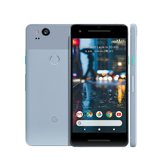 "Version US téléphone Mobile Google Pixel 2 4G LTE 5.0 ""4 GB RAM 64 GB/128 GB ROM Octa Core Snapdragon 835 Android 8.0 NFC téléphone intelligent"
