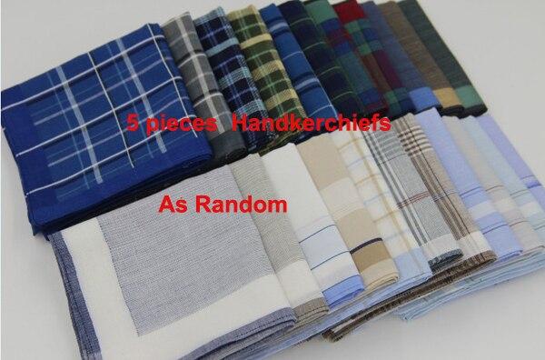 12 Pieces 6 Pieces 40cm x 40cm Checks Pattern 100/% Cotton Handkerchiefs