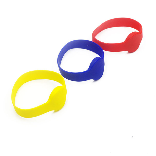 Polsband 125 Khz EM4100 Id Siliconen Proximity Smart Armband Ronde Hoofd Size 70 Mm Horloge Kaart Contactloze Rugged Silicon