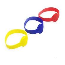 Pulseira 125khz em4100 id silicone proximidade inteligente pulseira redonda tamanho da cabeça 70mm relógio cartão de silicone sem contato áspero