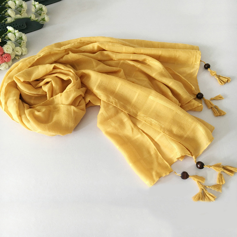 Women Solid Colors Tassel Viscose Shawl   Scarf   2019 New Brand Long Korean Solid   Scarves     Wrap   Snood 2019 New