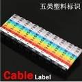CAT5E RJ45 RJ11 RJ12 de Color Numérico Cable Label Marcos El tipo de tarjeta digital de etiquetas
