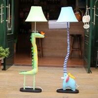 Торшеры для Гостиная освещение украшения ткани ручной работы животных Крокодил птица слон детей пол свет