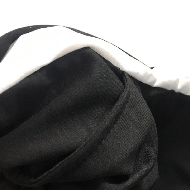 Высокая Талия белый полосатый шить Широкие брюки Мотобрюки Femme Для женщин Повседневное Сельма черный свободные штаны