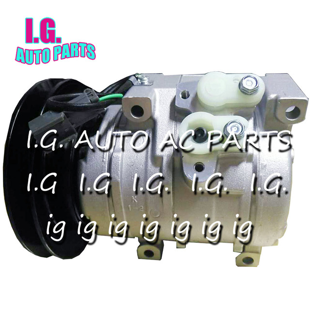 A/C Spare Parts For Caterpillar / John Deere Tractor / Komatsu Excavator Air Conditioning Compressor 1 Grooves
