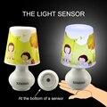 Linda Menina Candeeiro De Mesa Noite Lâmpada de Controle Inteligente De Iluminação Quarto Romântico Decoração UE/EUA Plug