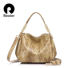 Realer brand women bag female genuine leather handbag luxury