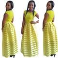 Robe Ropa Africana Riche Bazin Vestido de África Headtie Africano Tradicional de Algodón Mujeres Atractivas de la Ropa Superior de la Venta Caliente