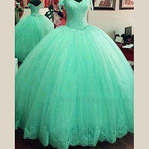 Image 2 - Vestido angsbridep ball quinceanera, vestido de baile com apliques bonitos, conjunto completo para mulheres 16 debutante 2020