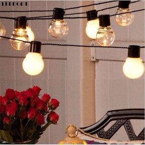 Image 1 - Dropship retro edison luz lâmpada estilo fada string luz impermeável ao ar livre luz interior 6m ac 110 v 220 v jardim decoração luminária