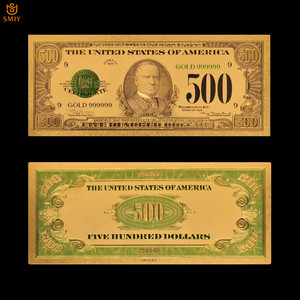 1918 US dollar banknote 500 Dollar 24k Gold Money Fake Banknotes Us Currency Paper Money Collection