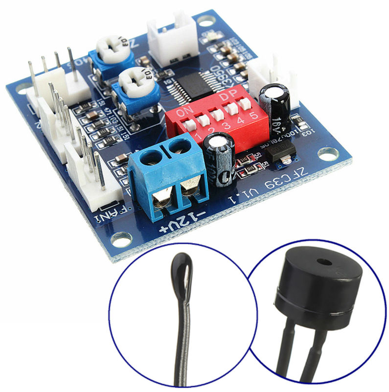 DC 12V PWM PC CPU Fan Temperature Control Speed Controller CPU High-Temp Alarm  - buy with discount