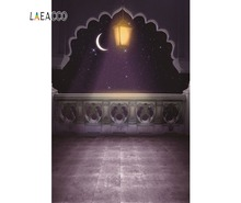 Laeacco Muslim Ramadan Arab Crescent Mosque Wall Decorations Photography Backgrounds Customize Photographic Backdrops For Photo
