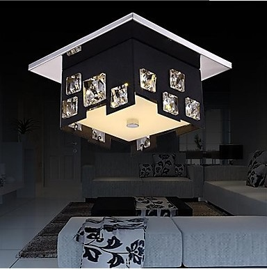 Modern K9 Crystal LED Ceiling Lamp,For Living Room bedroom,Bulb Included,Home Decoration Lustre De Cristal,AC 90V~260V клип кейс deppa art case для apple iphone se 5 5s рисунок шапокляк защитная пленка прозрачный с рисунком
