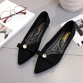 2017 Spring Women Flats Pointed Toe Slip on Shoes For Woman Loafers Crystal Ballerina Flats Bow Ladies Shoes zapatos mujer 3263
