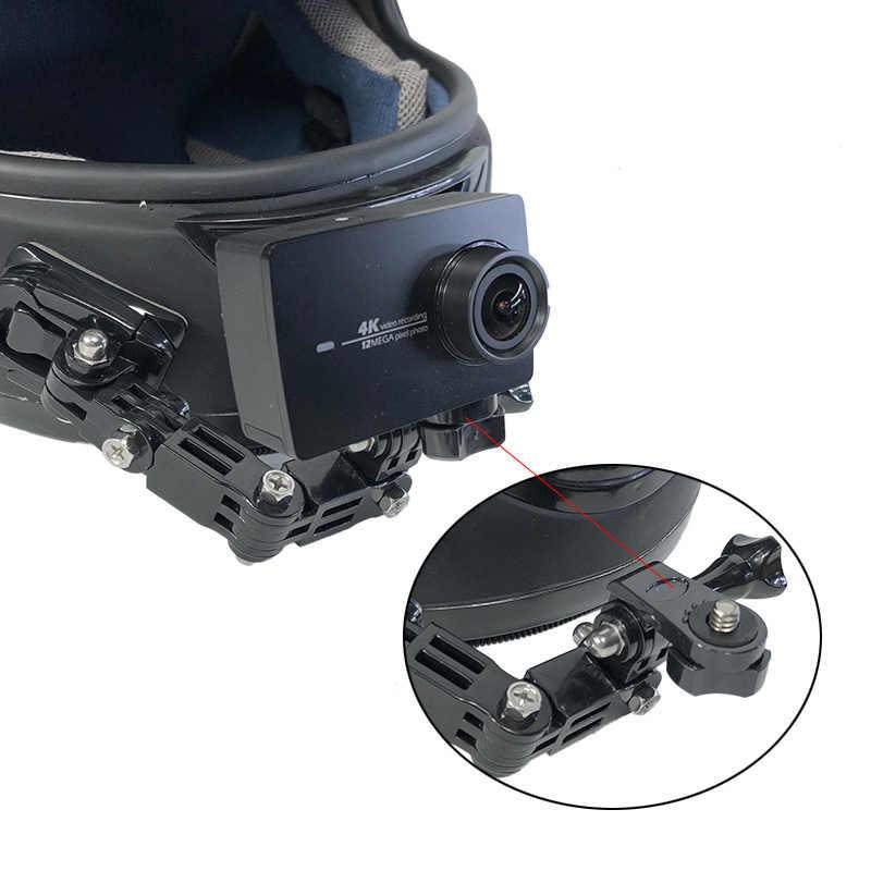 Adjustable Helmet Mount Arm Side Photography Kit Bike Motorcycle for Gopro SJCAM