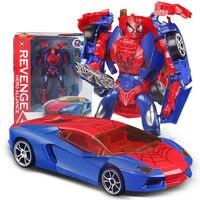 Transformation Toys Robot to Car Spiderman Transform Toys Children DIY Education Toys Gift