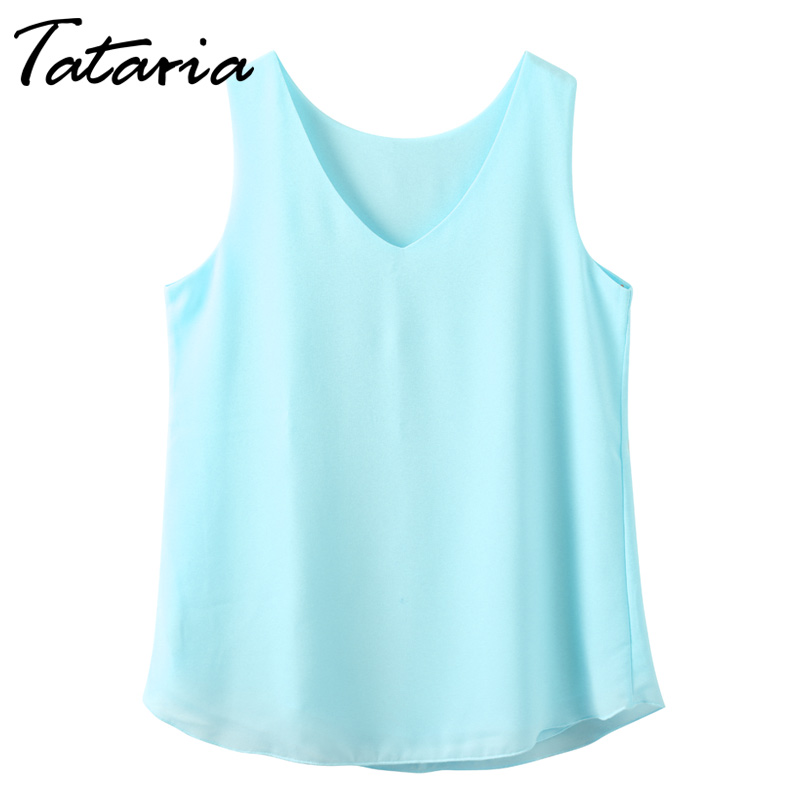 Chiffon Bluse Frauen Kleidung Frau Tops Sommer Weibliches Chiffon-Blusen Ärmelloses Shirt Femme Camiseta Tirantes Mujer Halter